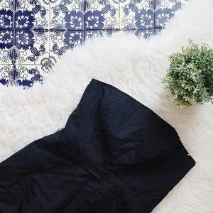 ANN TAYLOR LOFT strapless black dress